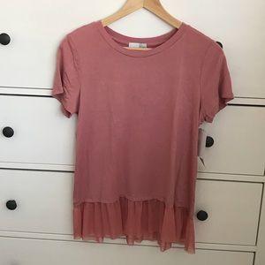 NWT 14th & Union Pink Desert Blouse